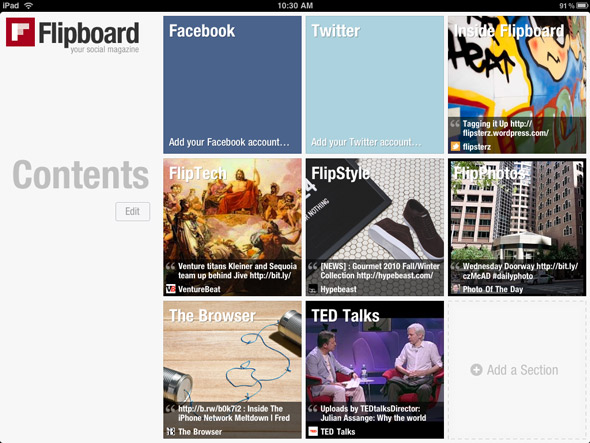Flipboard Interface